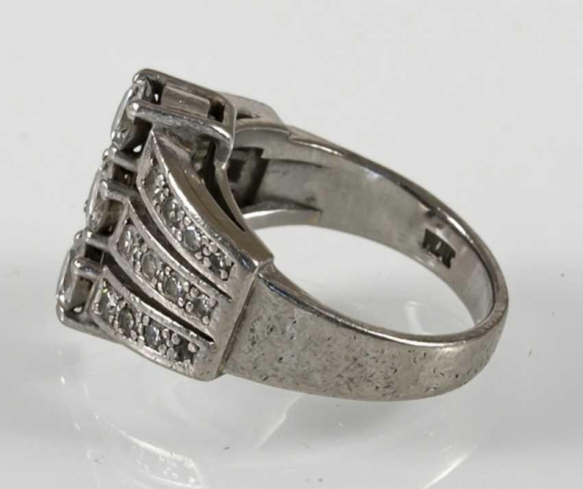Diamond Ring, Platinum, Diam.Together - photo 3