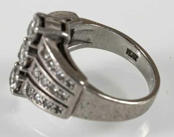 Diamond Ring, Platinum, Diam.Together - photo 4