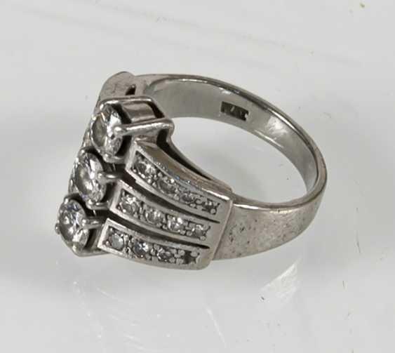 Diamond Ring, Platinum, Diam.Together - photo 5