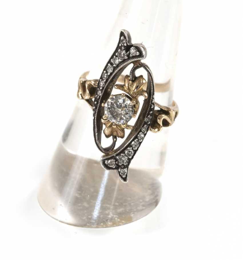 Art Nouveau Ring,14Kt Rg/silver - photo 1