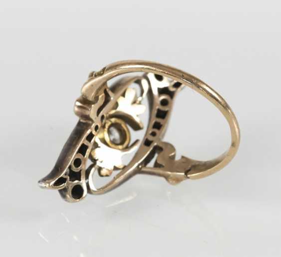 Art Nouveau Ring,14Kt Rg/silver - photo 2