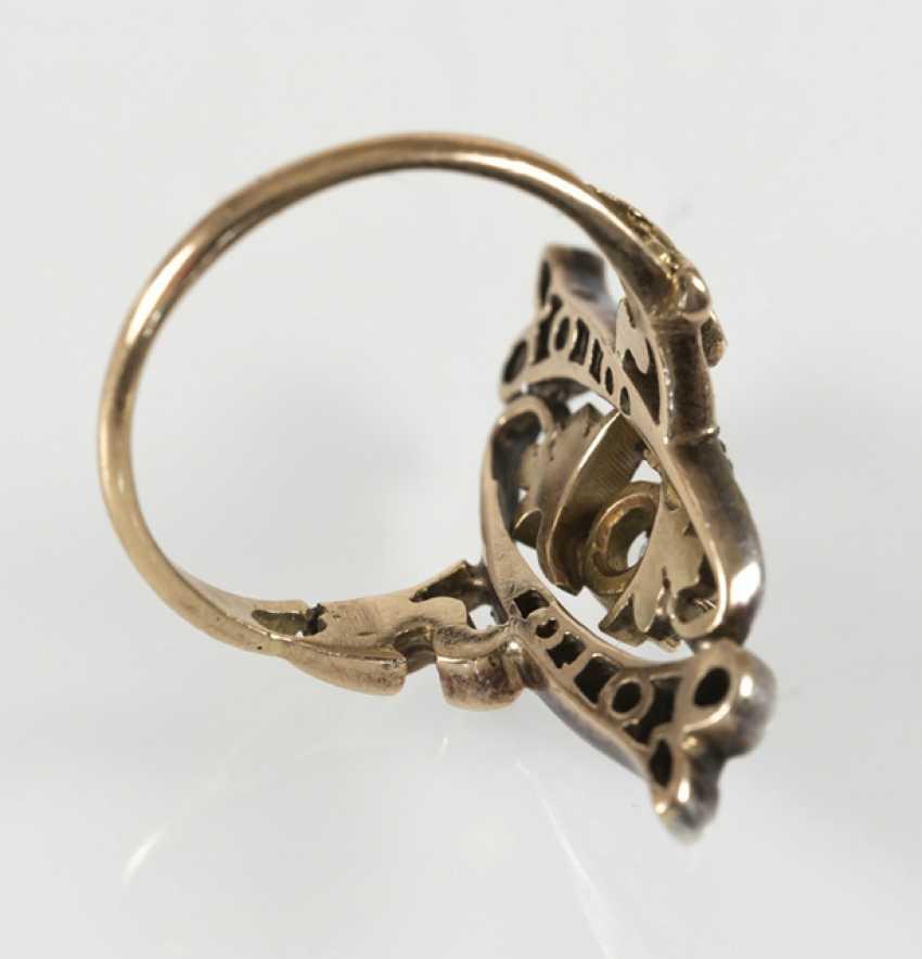 Art Nouveau Ring,14Kt Rg/silver - photo 3