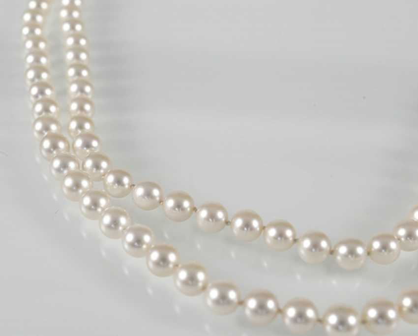Beautiful Akoya Cultured Pearl Necklace - photo 2