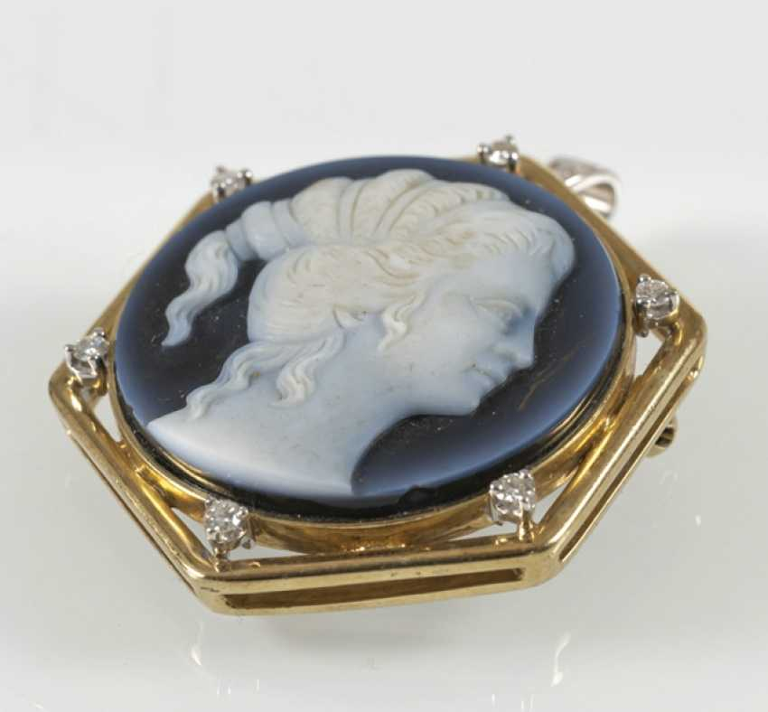 Brooch/Pendant, Agate Gem, - photo 2
