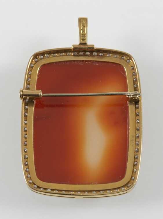 Brooch/Pendant, Agate Gem, - photo 3