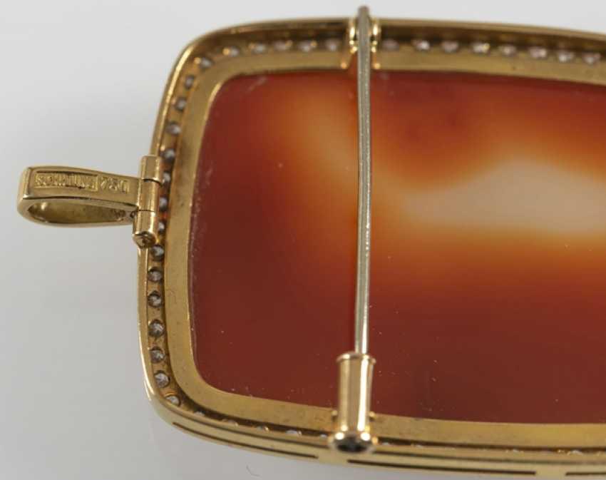 Brooch/Pendant, Agate Gem, - photo 4