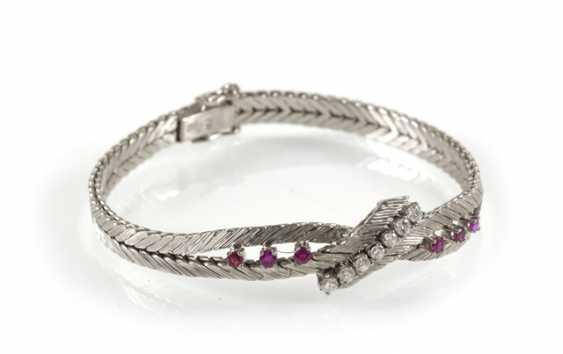 Rubin-Diamant-Armband, 750 Wg - photo 1