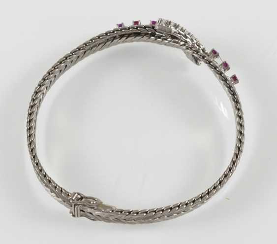 Rubin-Diamant-Armband, 750 Wg - photo 2