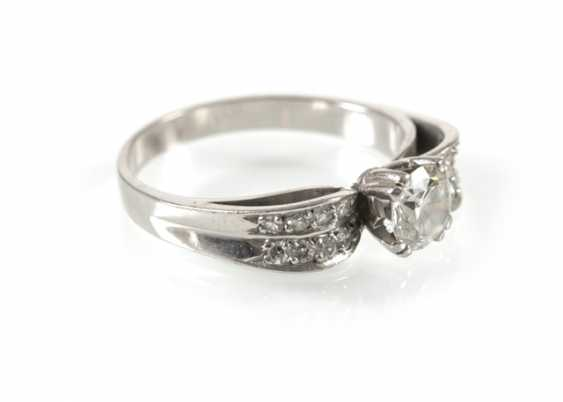 Diamond Ring, Wg, Old European Cut - photo 1