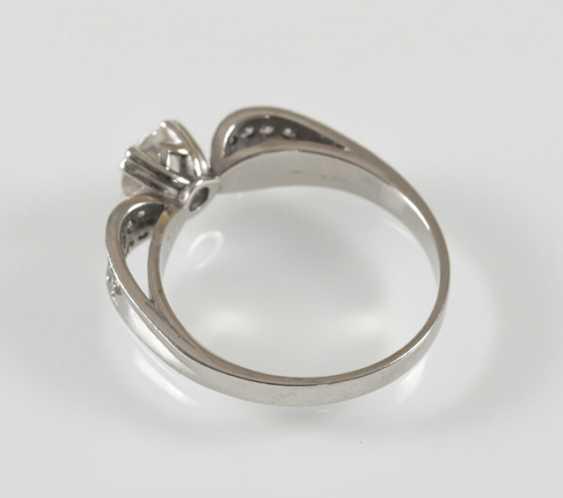 Diamond Ring, Wg, Old European Cut - photo 2