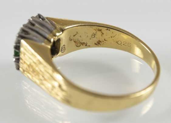 Emerald And Diamond Ring, 750 Gg/ - photo 4