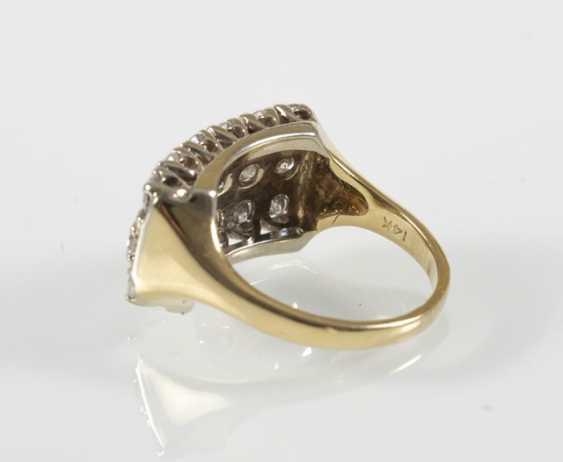 Diamond ring, 14Kt Gg-Rail - photo 3