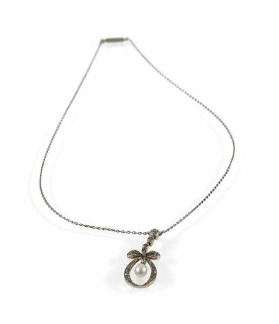 Pearl And Diamond Pendant, Circa 1900 - photo 1