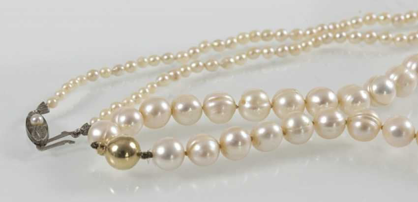 Freshwater Cultured Pearl Necklace, - photo 3