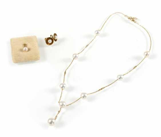 Breeding Pearl-Gold-Chain-Pendant - photo 1