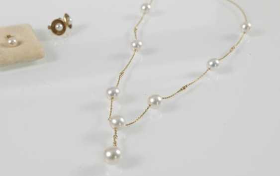Breeding Pearl-Gold-Chain-Pendant - photo 2