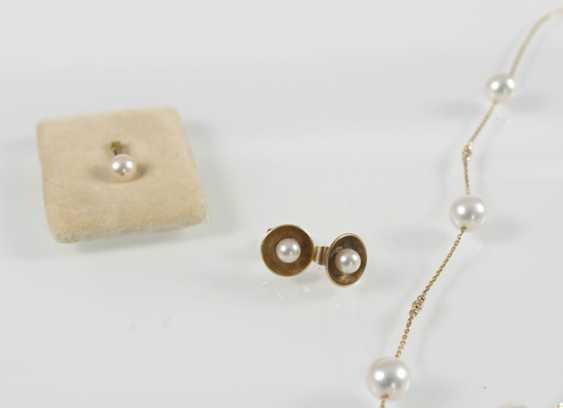 Breeding Pearl-Gold-Chain-Pendant - photo 3