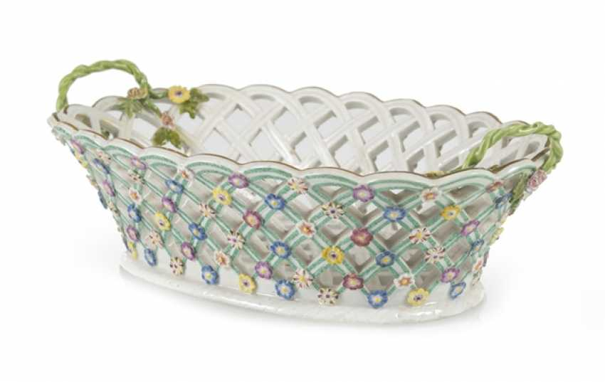 Decorative Basket, Meissen, Around 1760 - photo 1