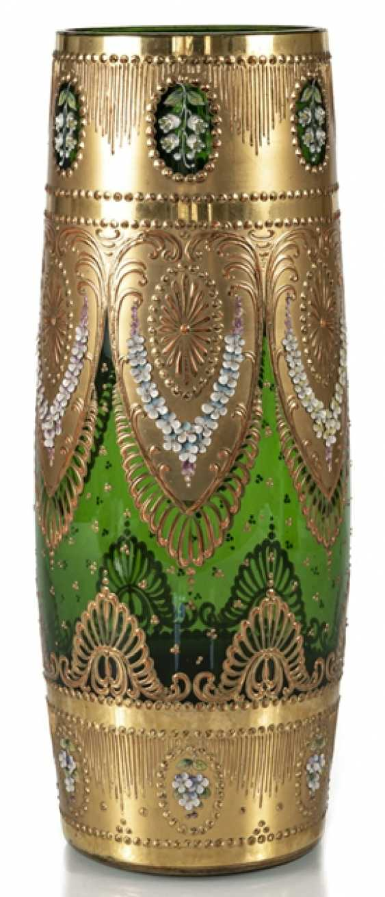 Large Vase, Around 1900, Green - photo 1