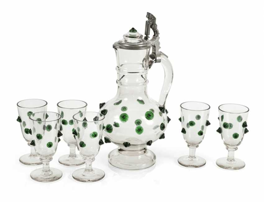 Decanter With 6 Glasses, Histo- - photo 1