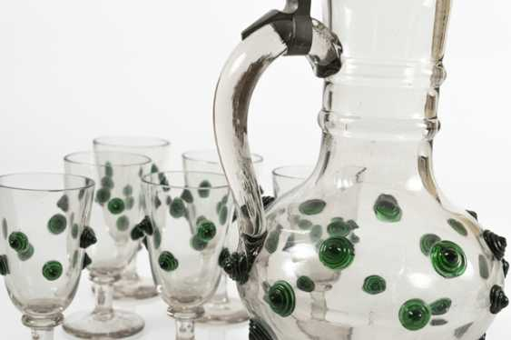 Decanter With 6 Glasses, Histo- - photo 3