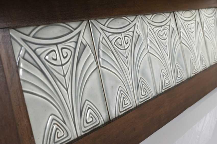 Art Nouveau-Board With 5 Tiles - photo 2