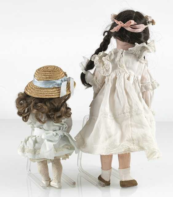 2 Porcelain Head Dolls - photo 4