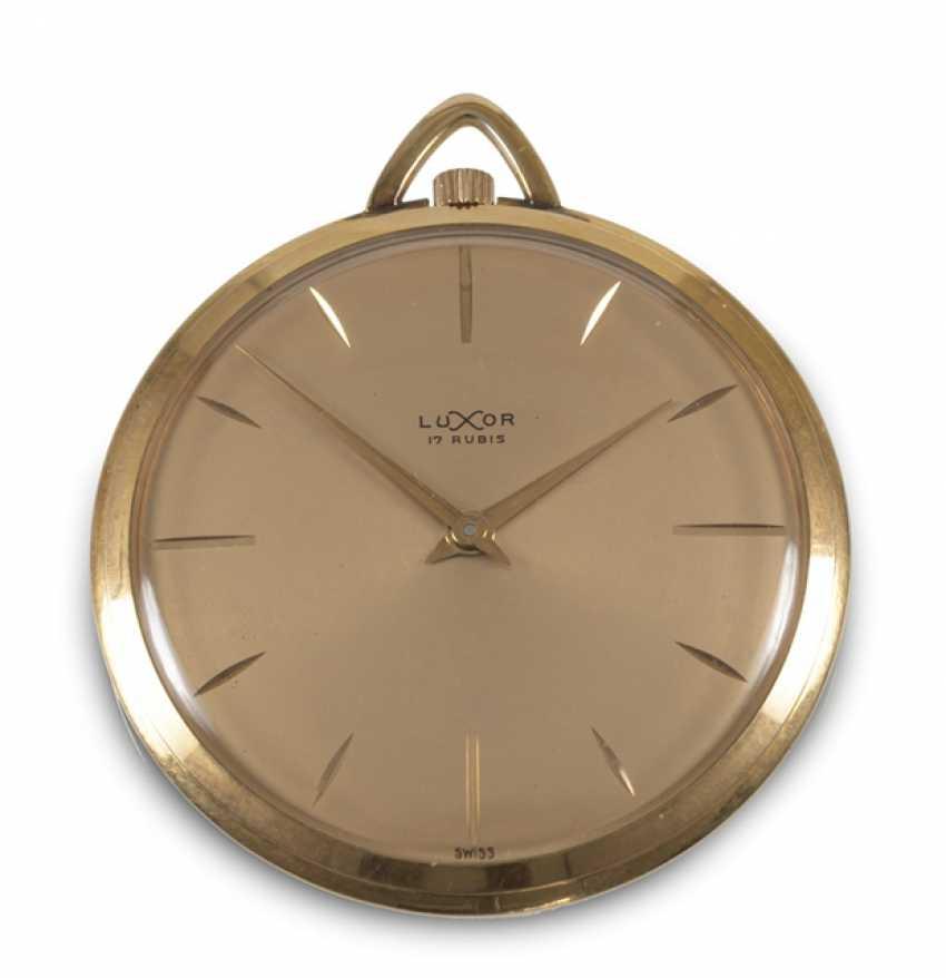 Pocket Watch, Luxor, Yellow Gold, - photo 1