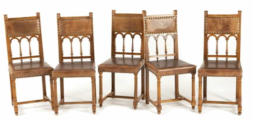 Set Of 5 Historicism-Chairs - photo 1