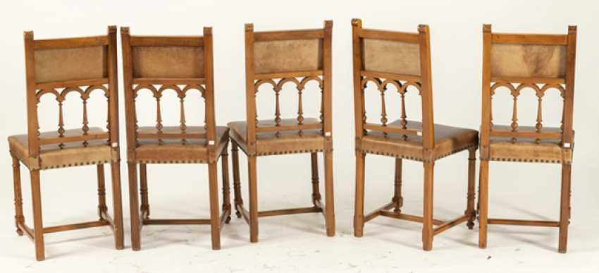 Set Of 5 Historicism-Chairs - photo 3