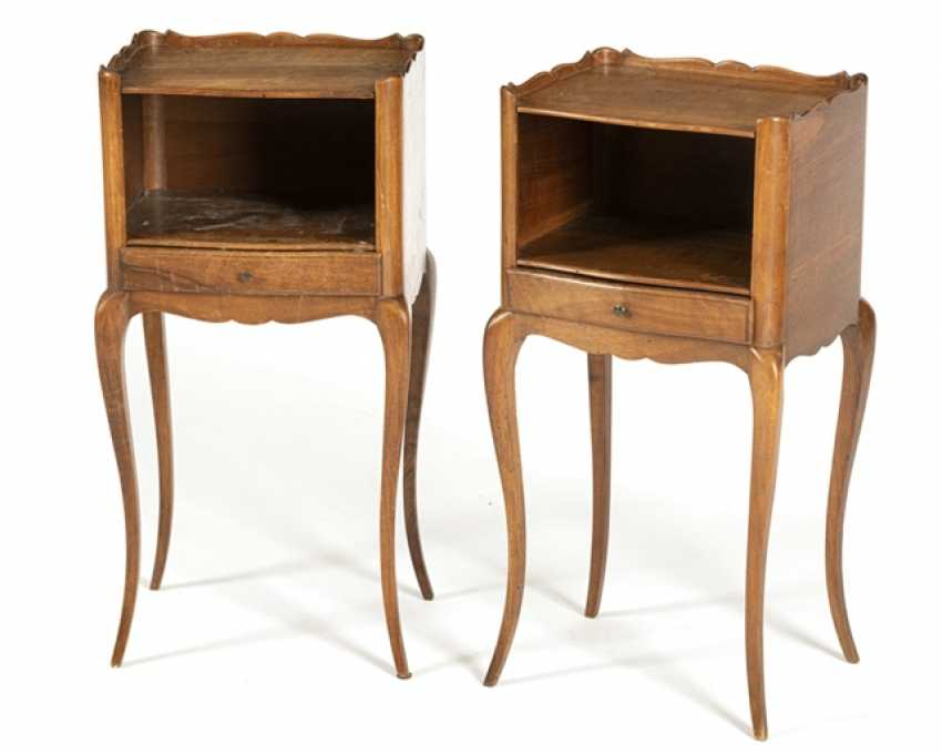Pair Of Night Tables, France, - photo 1