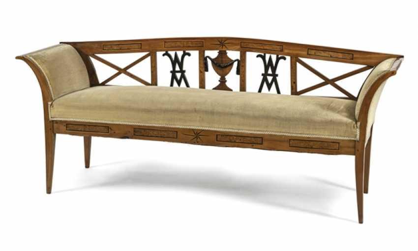 Biedermeier Bench,19. Century, - photo 1