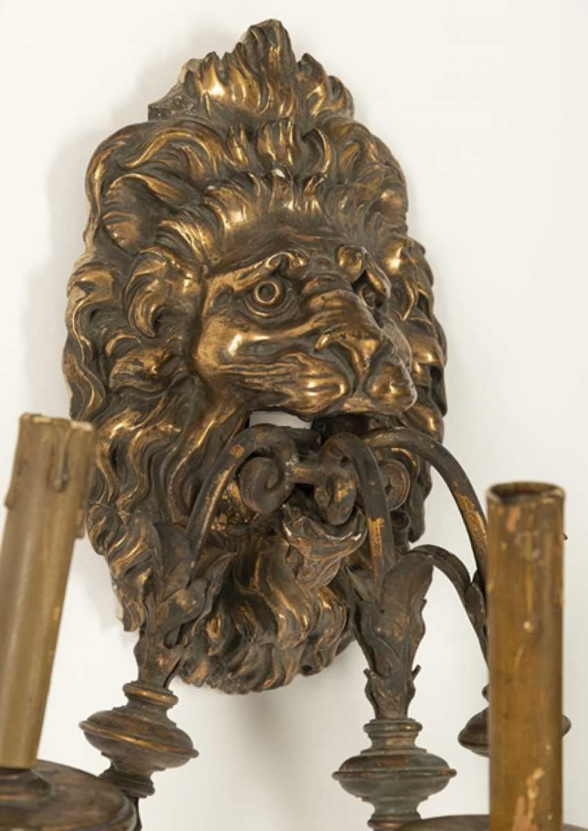 Pair Of Wall Appliques Of Lions - photo 2