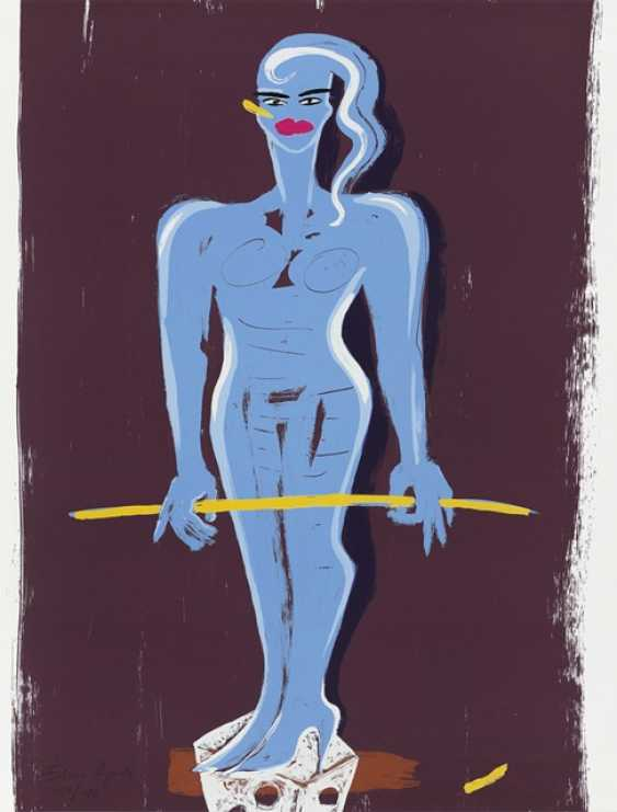 Bach, Elvira - Blue female Nude - photo 1