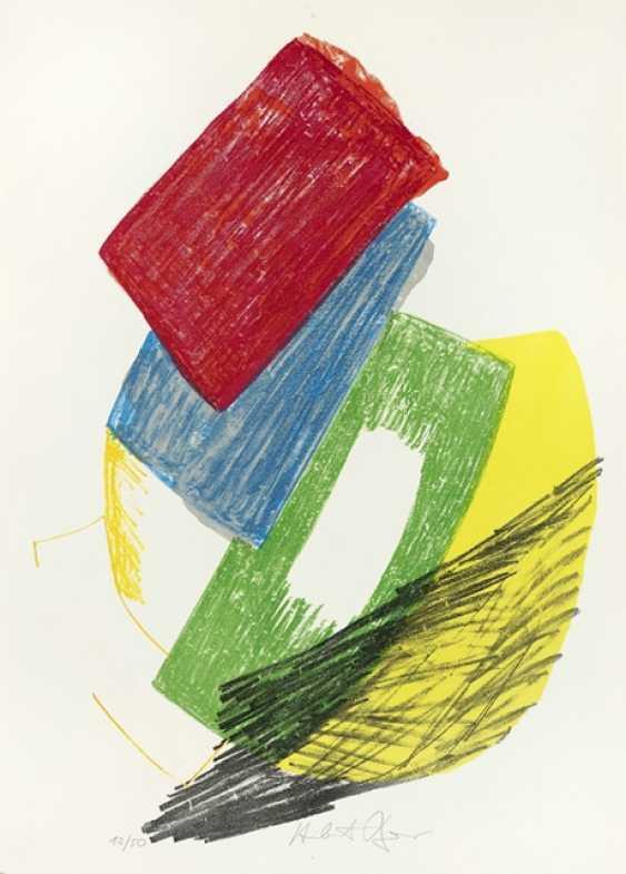 """Bauer, Herbert - 3 Works: """"Two Figures"""" - photo 1"""