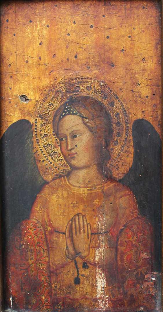 Giovanni Bonsi (actif vers 1370)-l'école, de l'Or-sol panneau de la prière de l'ange avec auréole et des ailes de couleur sombre - photo 2