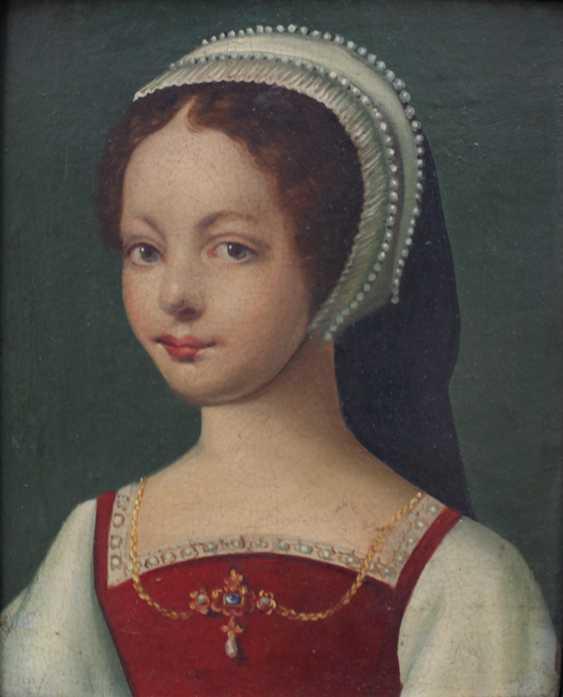 Corneille de Lyon (ca. 1500-1575)-school, Pair of portraits of aristocratic lady and gentleman - photo 2
