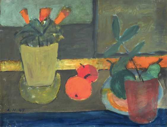 "Haller, Alfred, and Greta - 2 Works: ""still life with Apples"" - photo 1"