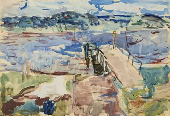 Henninger, Manfred - landscape with dock on the lake - photo 1