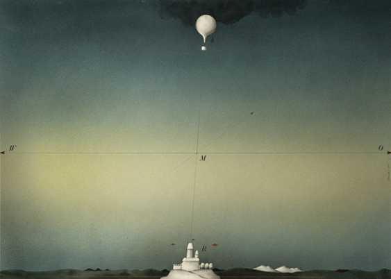 Janak, Alois castle with hot air balloon - photo 1