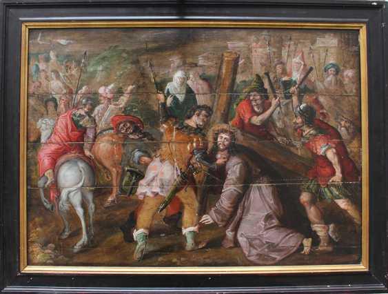 Flemish School 17th Century, Christ carrying the Cross - photo 1