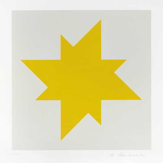 "Portfolio: ""star / Stars"" - a sequence of three color serigraphs on smooth cardboard by Hermann Glöckner - photo 3"