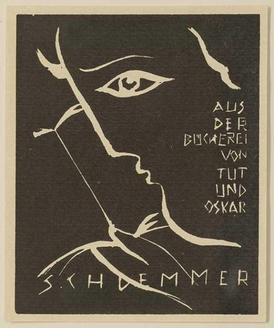 Schlemmer, Oskar - Ex-Libris: from the library of Does and Oskar Schlemmer - photo 1