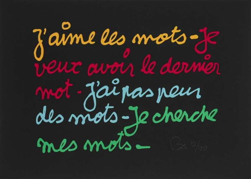 Vautier, Ben - I love the words - I want to have the last word - photo 1
