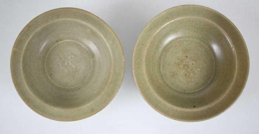 Two small bowls, a Ösentopf and a figure with celadon glaze - photo 4