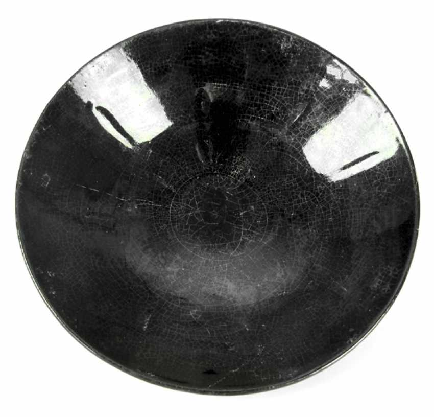 Ceramic bowl with a black luster glaze in the Song style - photo 1