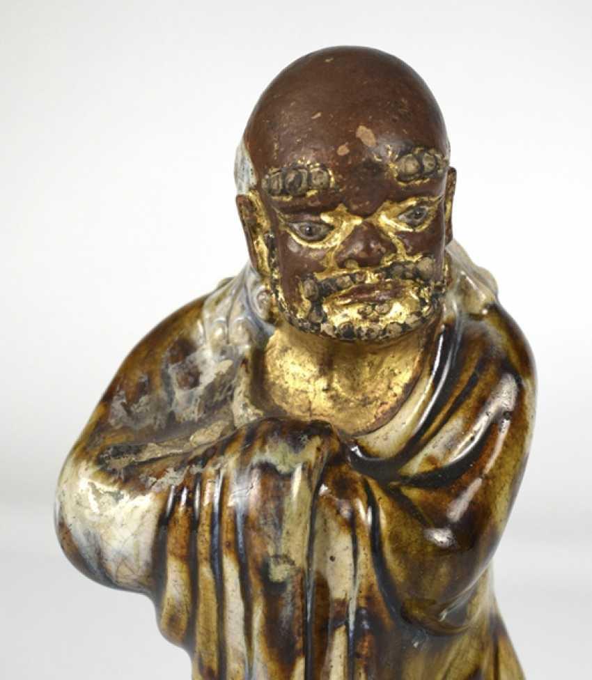 Shiwan-Figur des Bodhidharma - photo 3