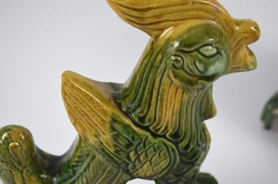 Six roof tab in the Form of animals and mythological creatures, with a 'sancai'-glaze - photo 7