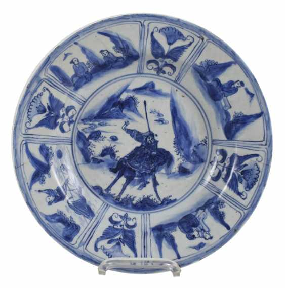 Kraak dish with a representation of Guanyu on his horse - photo 1