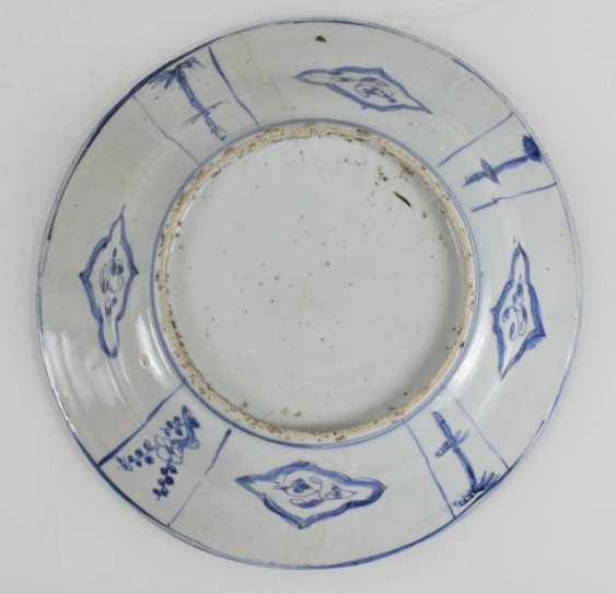 Kraak dish with a representation of Guanyu on his horse - photo 2